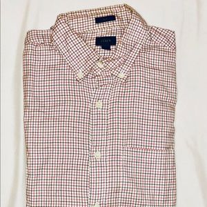 J.Crew, red and blue button down shirt
